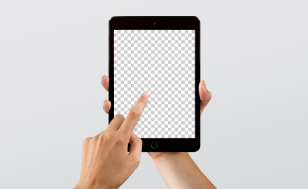 Hi-Res iPad mini mockup for Sketch & Photoshop