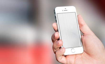 Customizable iPhone SE Silver mockup