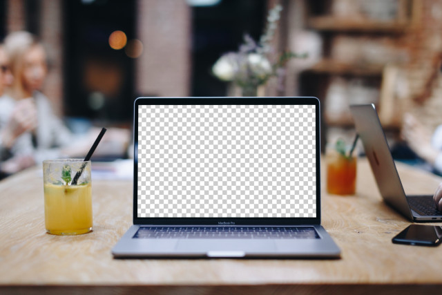 Stylish Macbook Pro PSD