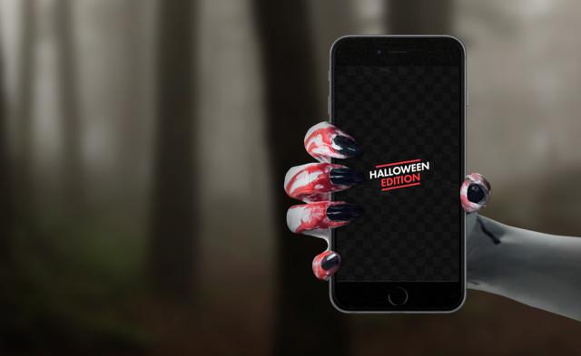 Halloween iPhone 6s mockup