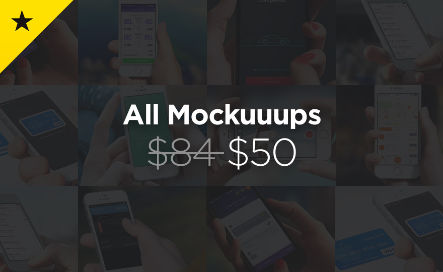 108 mockups with 40% Discount