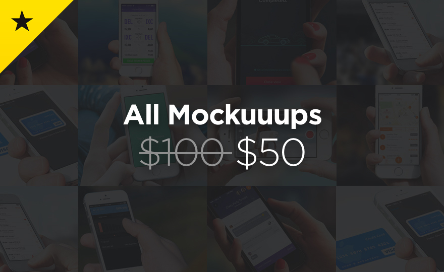 114 mockups with 50% Discount