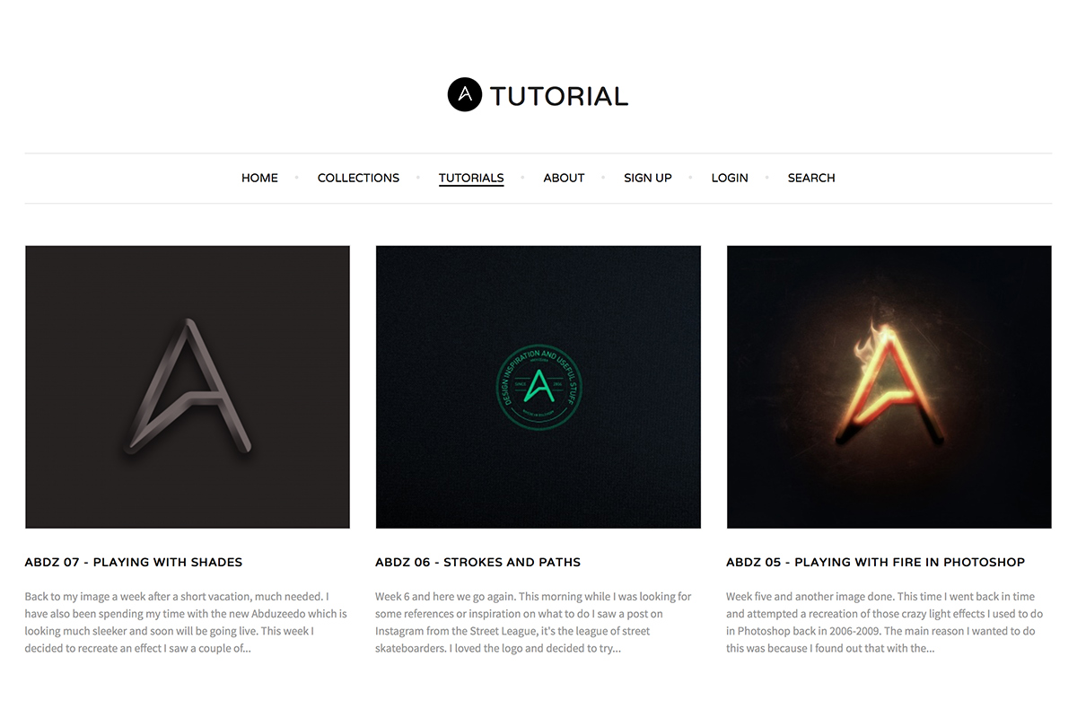 Abduzeedo Tutorials