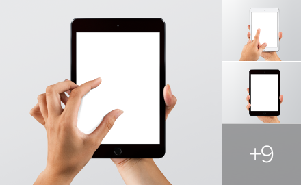Sketch & Photoshop iPad mockups