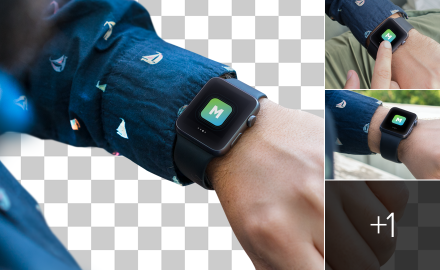 Photorealistic Apple Watch mockups