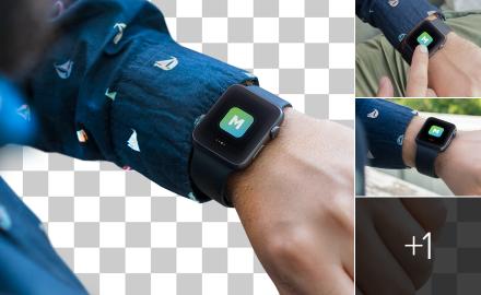 Photorealistic Apple Watch mockups