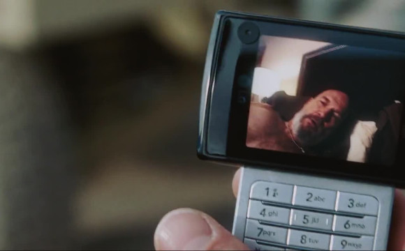 Iron Man - Tony Stark's having a video-call on his LG VX9400